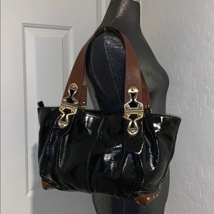 MICHAEL KORS JOPLIN  Leather Hinged Strap Tote bag